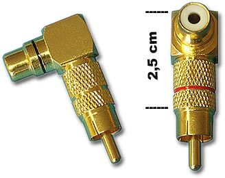 Cinchwinkel Adapter massiv 0772.00319, 24K vergoldet