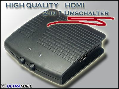 High Quality HDMI Switch /  2fach Umschaltbox
