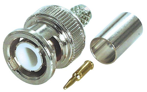 BNC Stecker Crimp-Version für 0772.04997, RG 59 / 62 Kabel