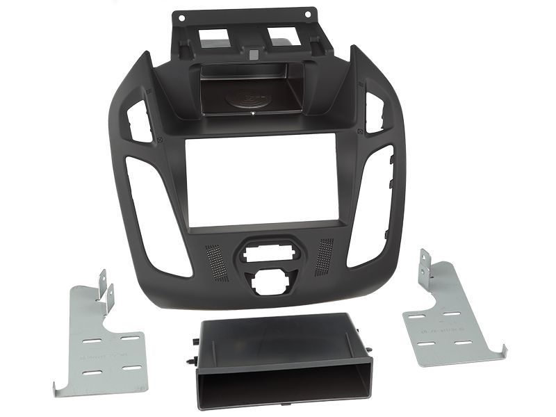 Radioblende 0772.09183 für Ford Tourneo Connect, Transit Connect (PJ2) 2-DIN mit Fach, ohne Display, schwarz