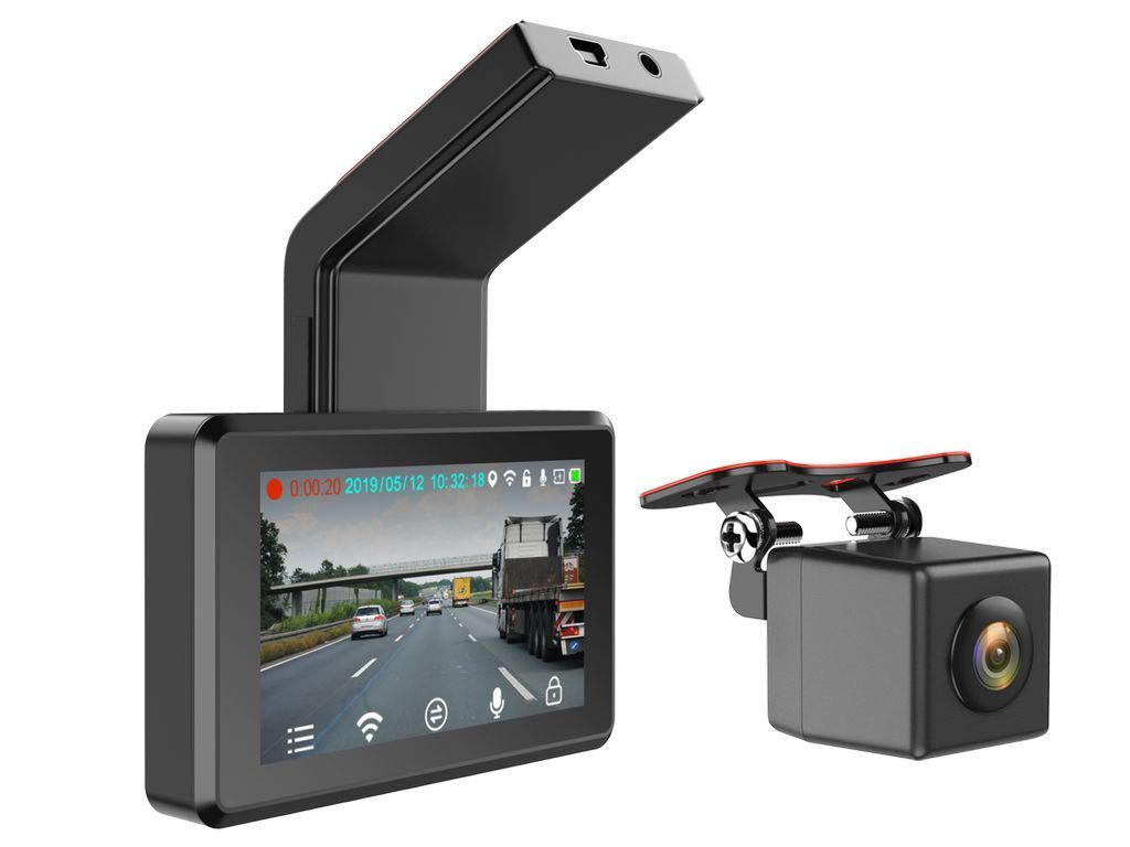 "Full HD Dashcam inkl. 3"" Monitor + Heckkamera DVR"