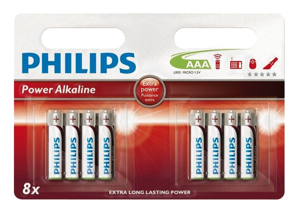 PHILIPS Power Alkaline AAA Batterie 8er-Pack 0772.08457