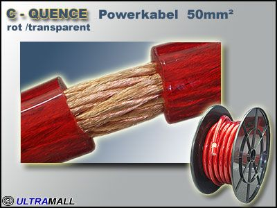Powerkabel hochflexiebel 0772.00882, 50mm², rot, 0.12er Kupfer Litze