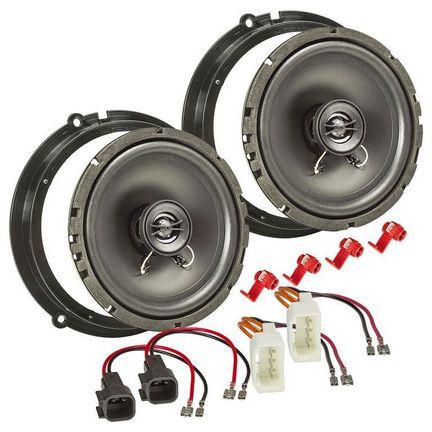 Rav4 passend f/ür Vordert/ür /& Hintert/ür Farbe: schwarz Corolla Yaris//Verso 1 Paar Celica 165 mm MDF Lautsprecherringe kompatibel mit Toyota Avensis