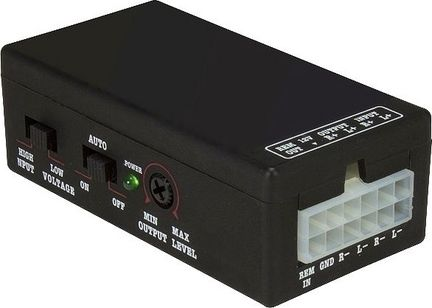 High-Low Converter Adapter - aktiv mit Remote, 2-Kanal