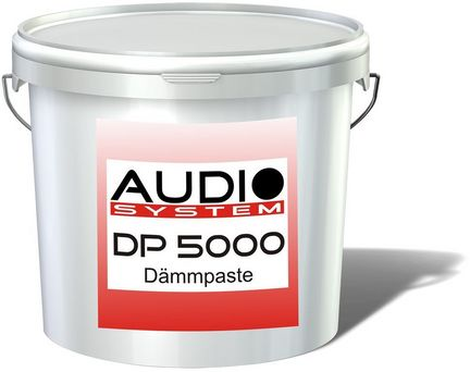 Audio System DP 5000 Dämmpaste - Dämm-Material ( inkl. Weichmacher ), 5.0 kg, anti-noise Paste