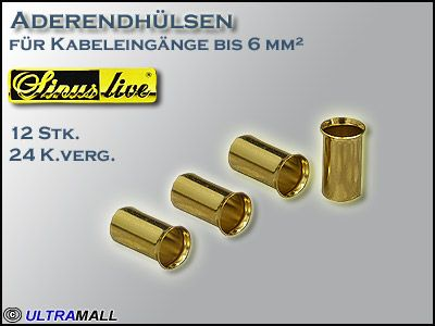 "HQ Aderendhülsen ""Set"", Querschnitt  6,0mm²"