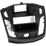Radioblende passend für Ford Focus (DYB) 2-DIN-Set mit Fach schwarz ab