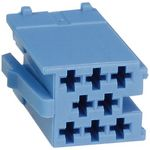 Mini-ISO-Stecker-Gehäuse 8-pol blau