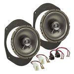 MDF Lautsprecher Einbau Set passend für Ford Fiesta Ka Focus Mondeo