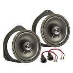 MDF Lautsprecher Einbau Set passend für Ford Ka 165mm 2-Wege Koaxial