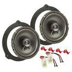 MDF Lautsprecher Einbau Set passend für Ford Focus C-Max S-Max Mondeo