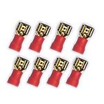 10x 4,8 mm Flachstecker 24k  für Kabel 0,5 - 1,5mm² 0772.01083, rot