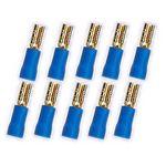 10x 2,8 mm Flachstecker 24k  für Kabel 1,5 - 2,5 mm² 0772.01069, blau