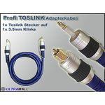 TOSLINK Adapterkabel (Toslink 3.5mm Stecker) Profi Serie 0772.00554
